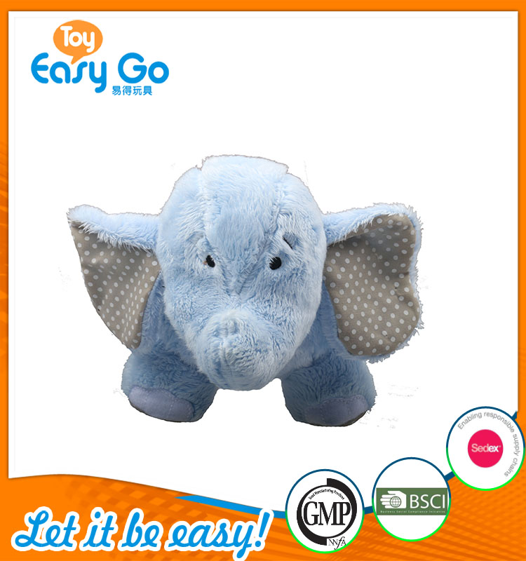 high quality customized production cute blue elephant plush